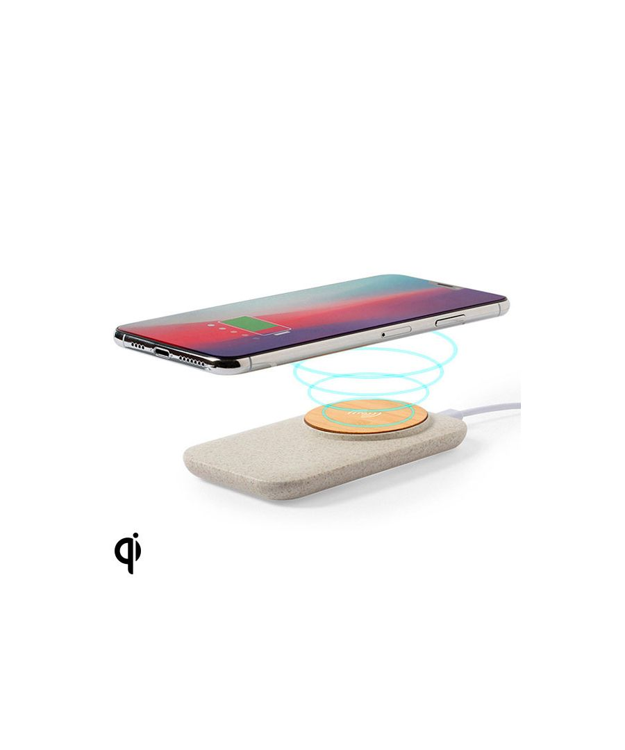 Image for Wireless Qi Charger with USB Ports 146536 Bamboo Wheat straw Abs