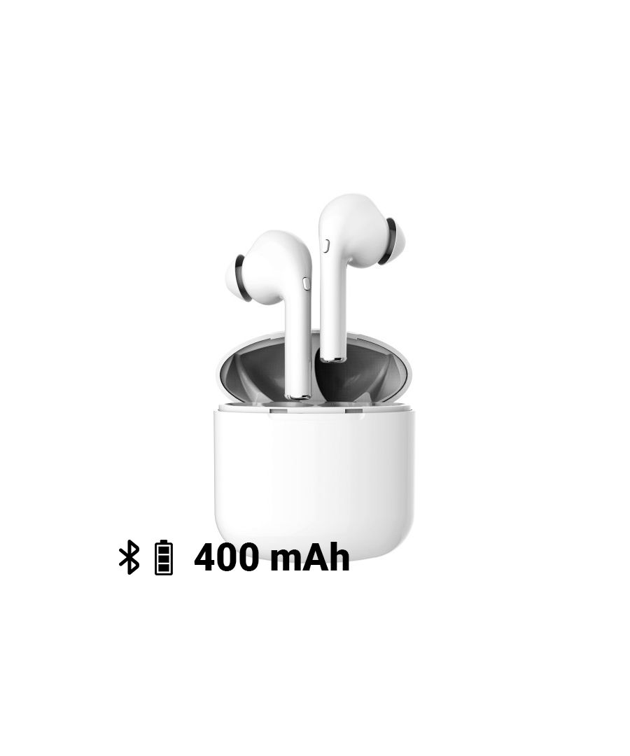 Image for Bluetooth Headset with Microphone KSIX True Buds 60-400 mAh White