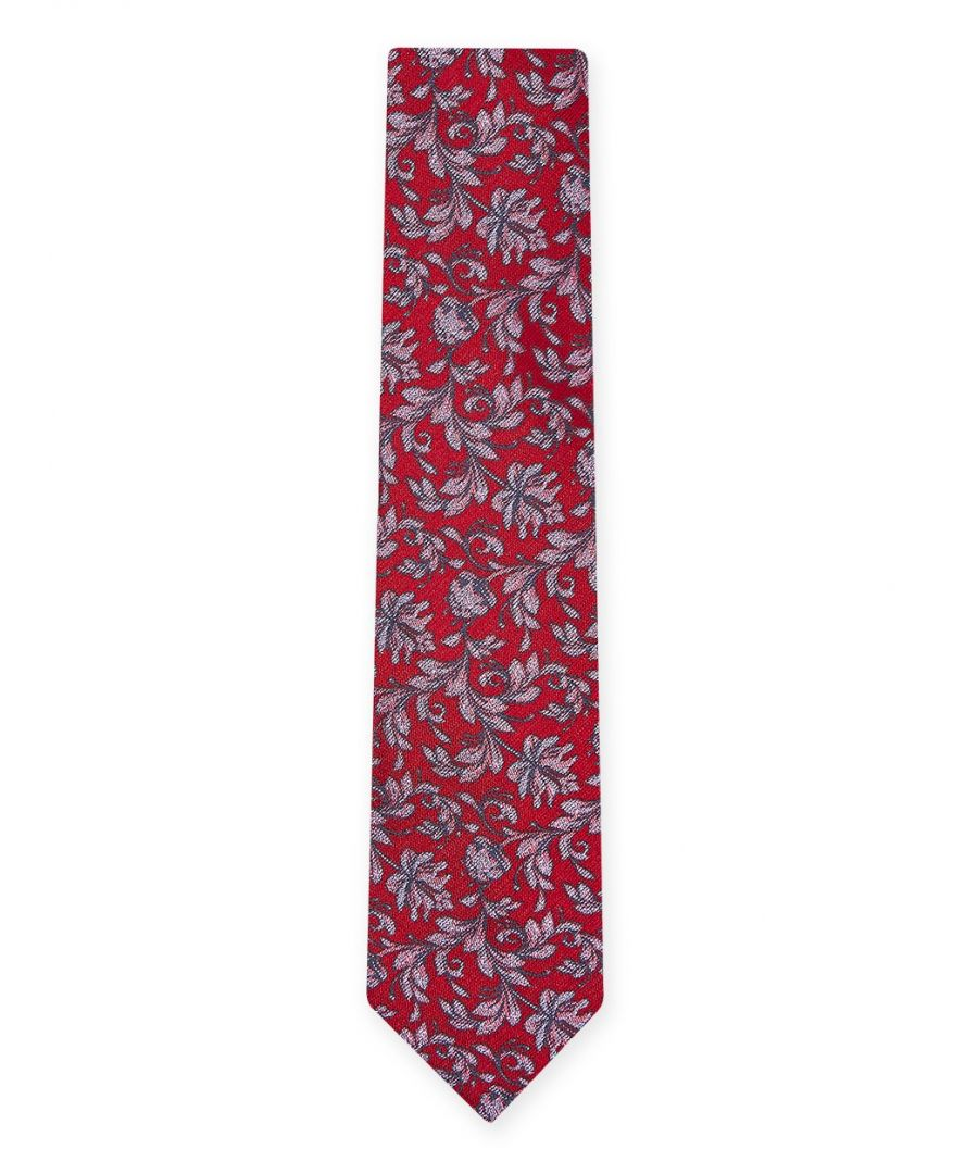 Image for Delica Floral Tie Red