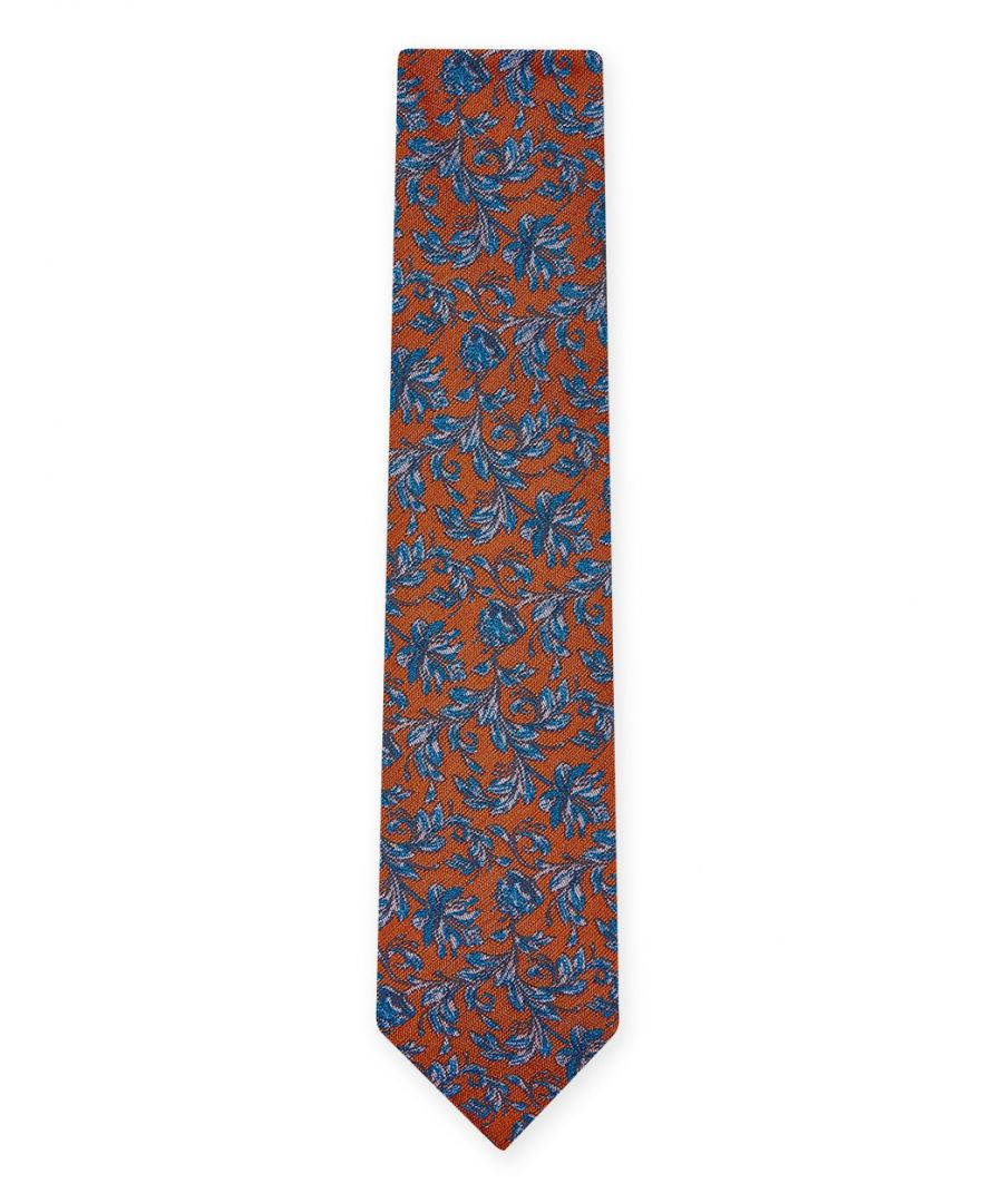 Image for Delica Floral Tie Orange