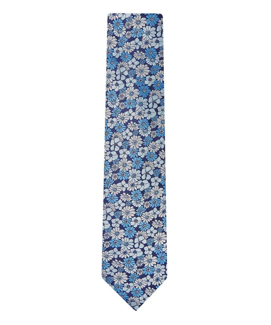Image for Pastel Floral Tie Blue