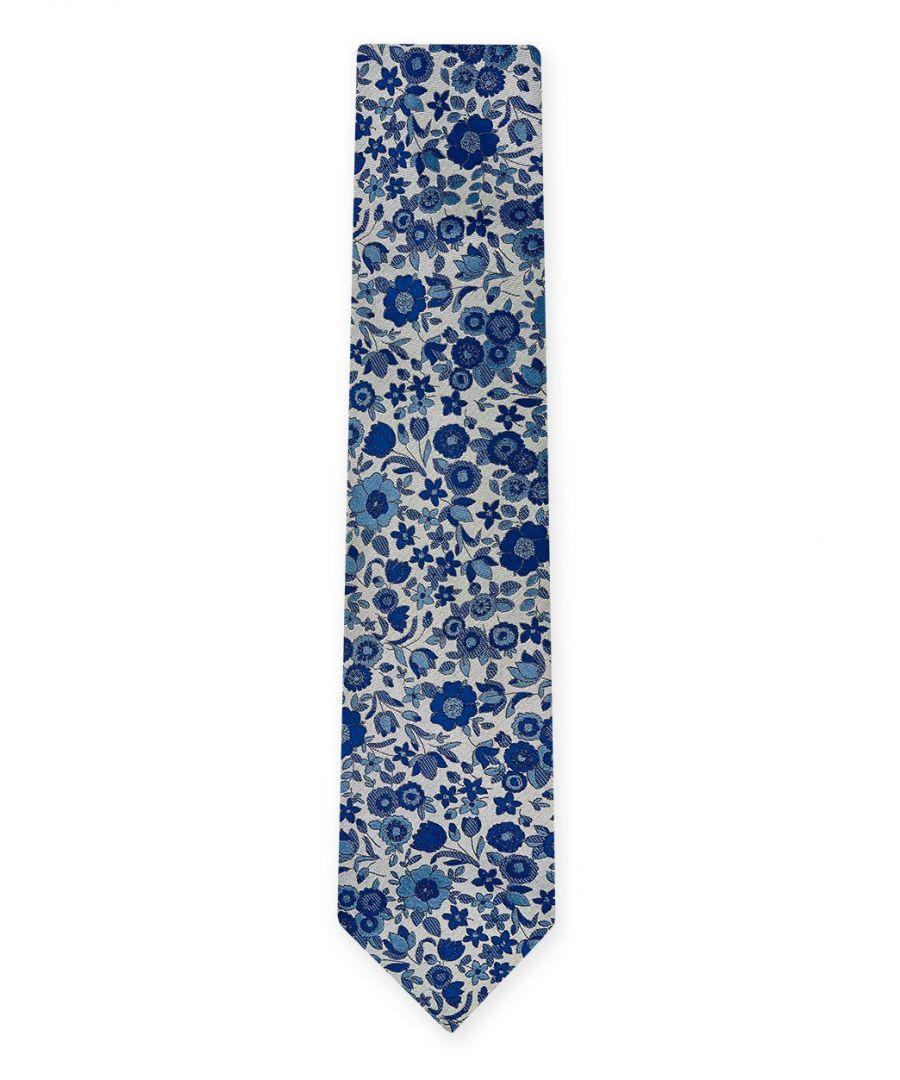 Image for Grace Floral Tie Blue