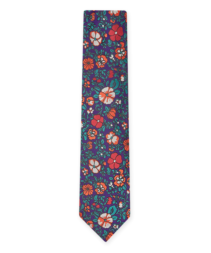 Image for Patch Floral Tie Purple