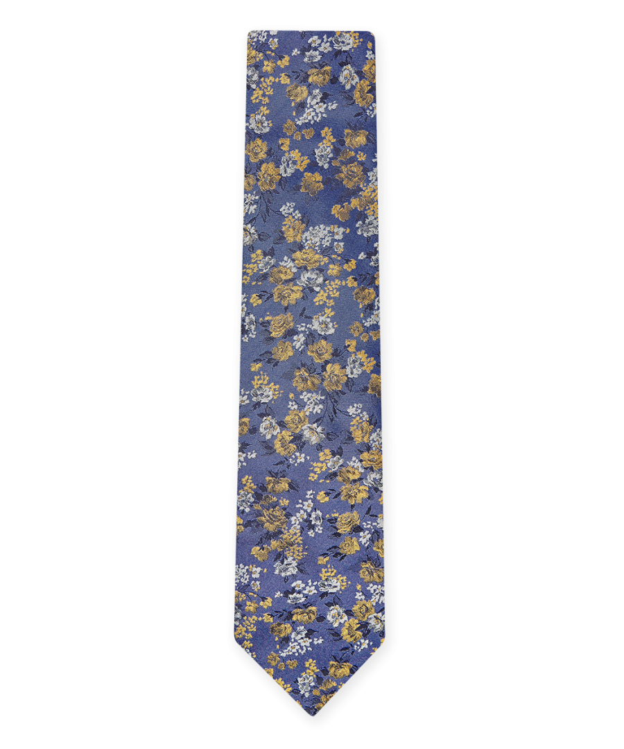 Image for Flash Floral Tie Purple