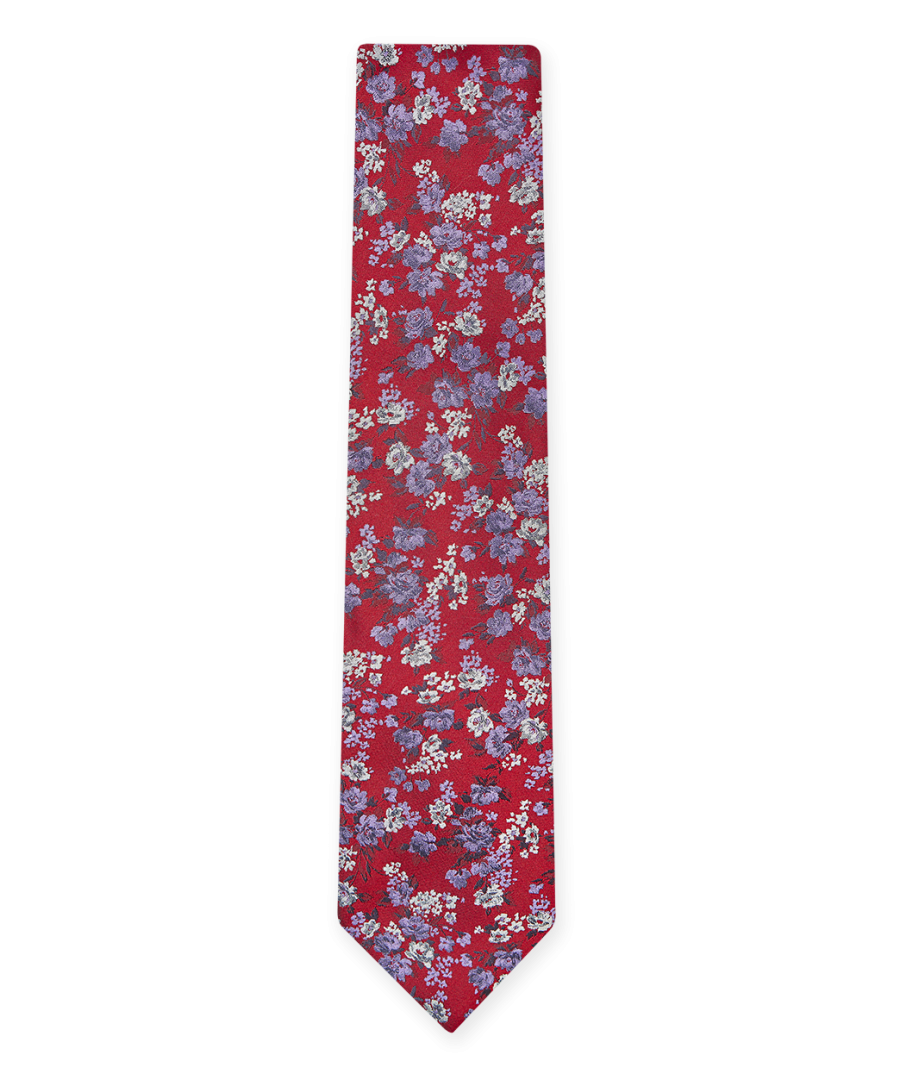 Image for Flash Floral Tie Red