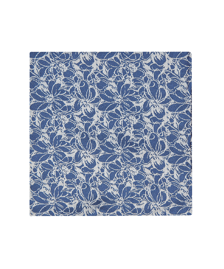 Image for Sketch Floral Pocket Squares Navy