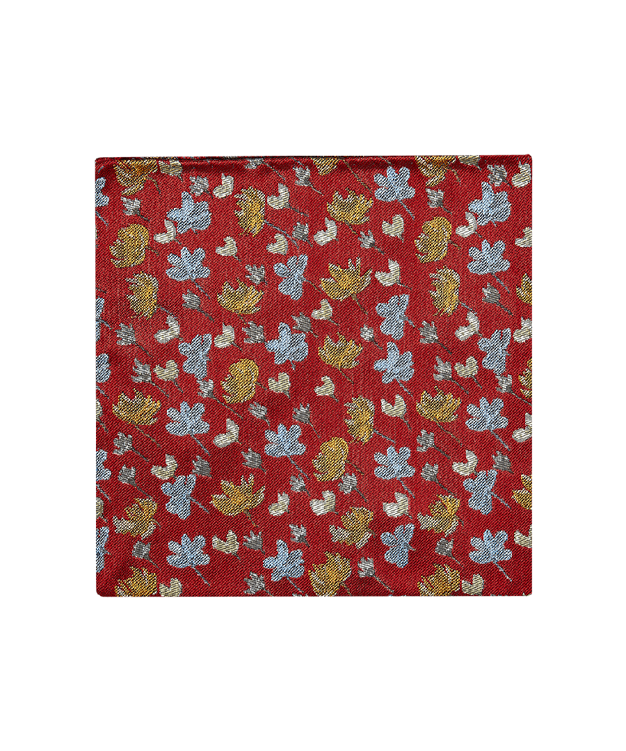 Image for Wild Hearts Pocket Square Orange
