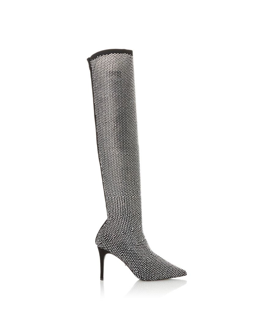 Image for Dune Ladies SACRAMENTO Pointed Toe Embellished Over The Knee Boots