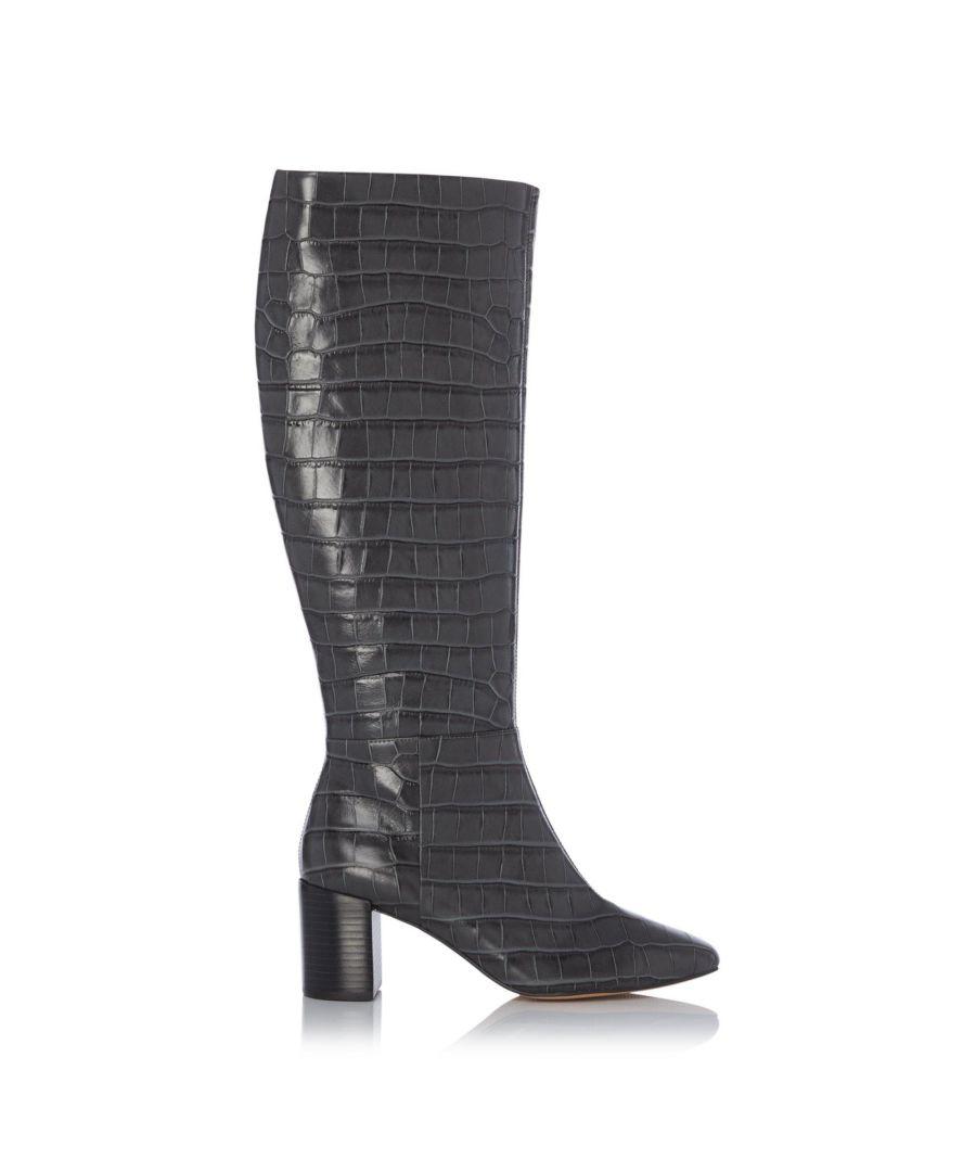 Image for Dune Ladies SAFFIA Knee High Block Heel Boots