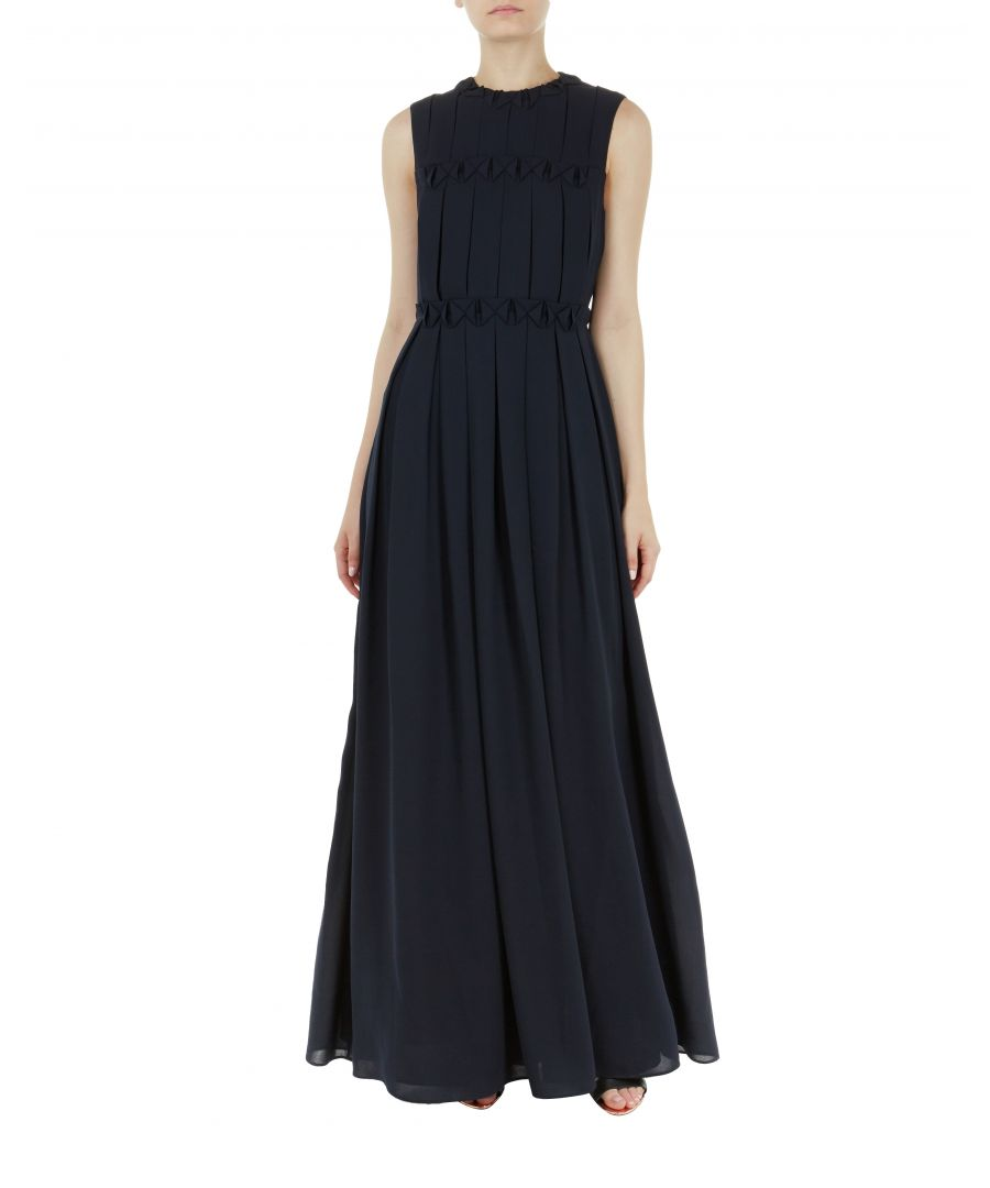 Image for Ted Baker Saffrom Origami Folded Maxi Dress, Navy