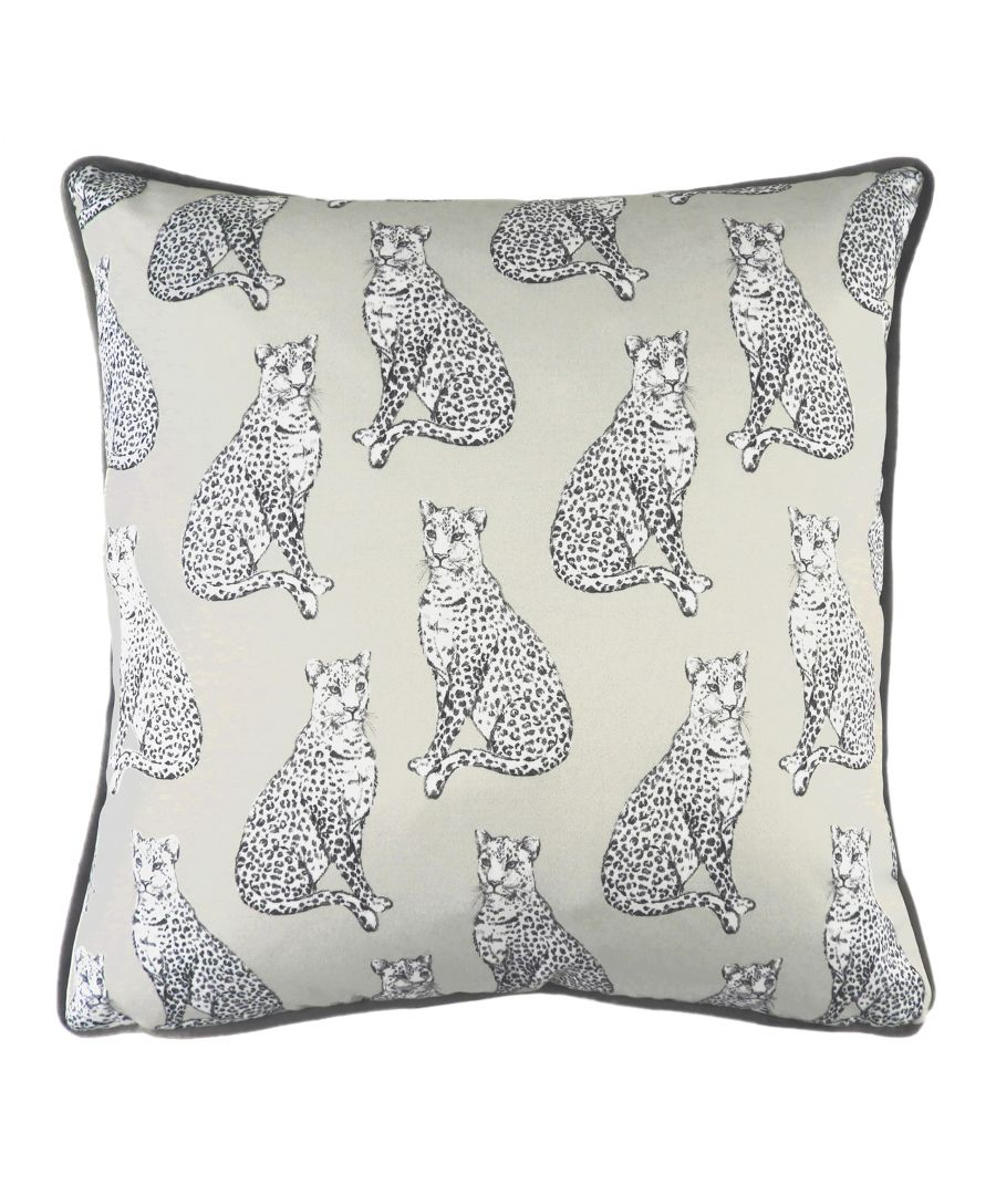 Image for Safari Leopard Silver Cushion