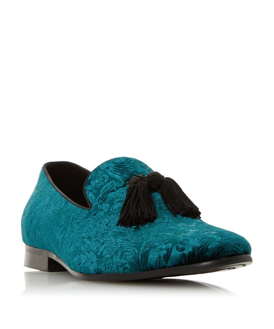 Image for Dune Mens SALT Tassel Trim Velvet Loafer