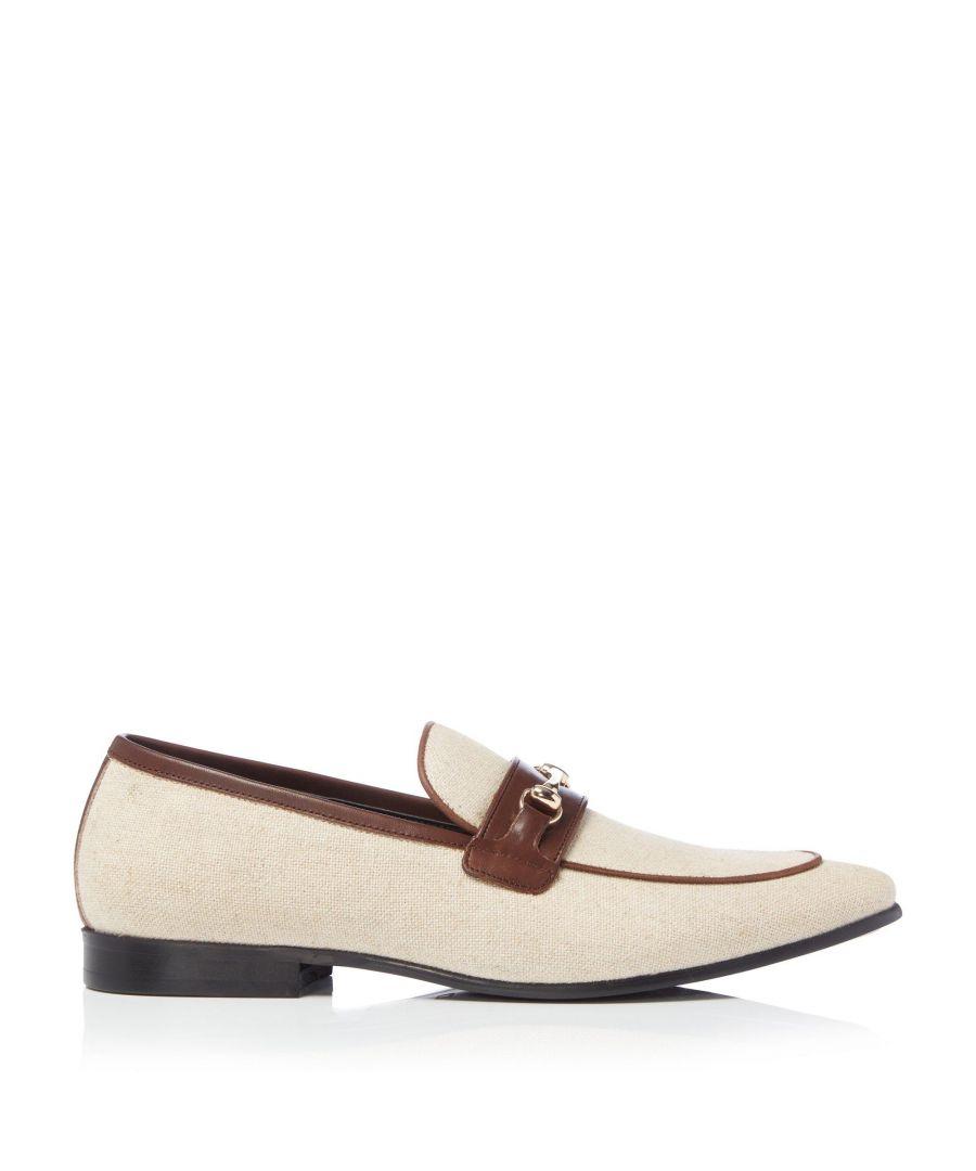 Image for Dune Mens SAMOS Smart Linen Snaffle Loafers
