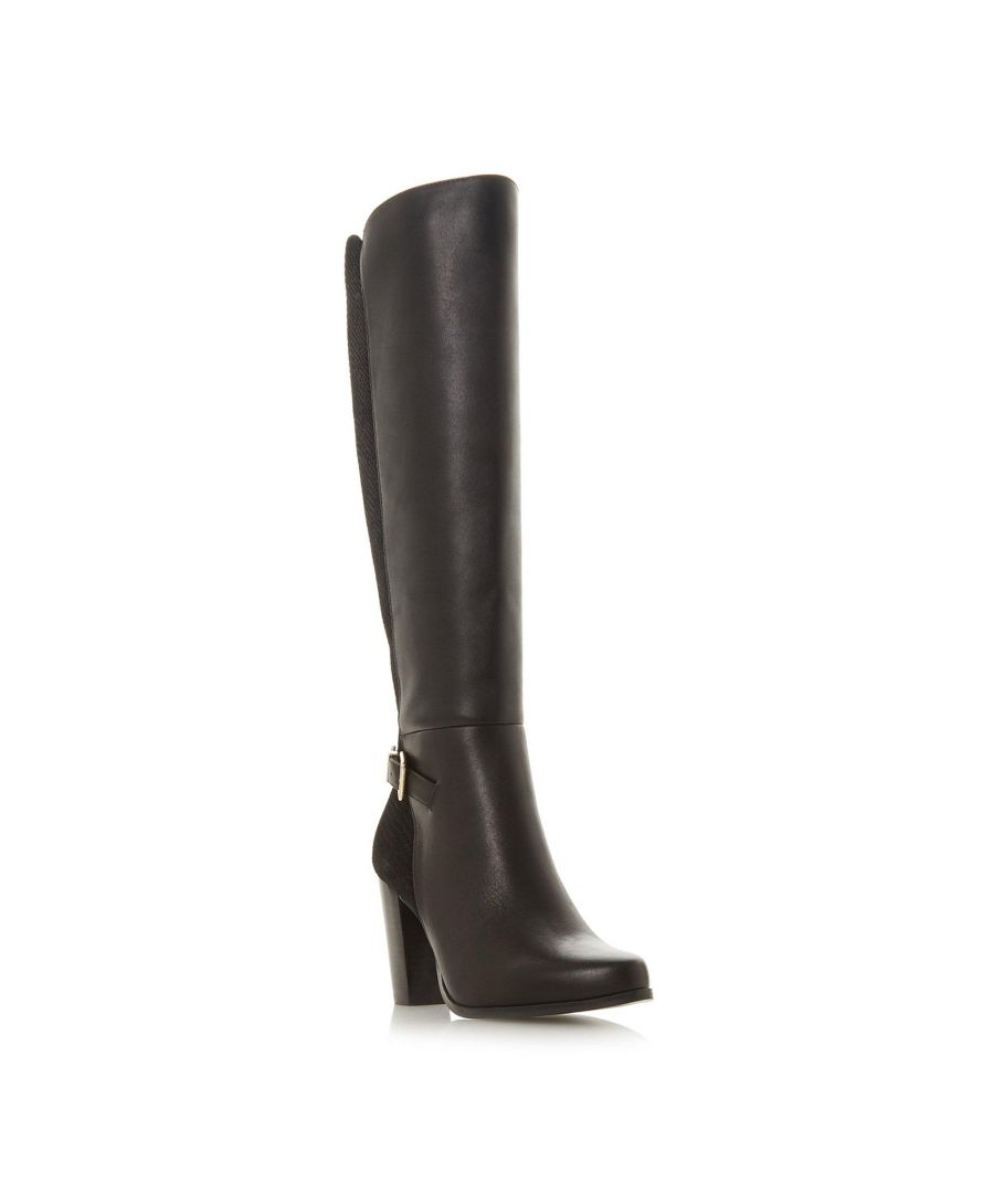 Image for Dune Ladies SAMUELLA Mixed Material Knee High Buckle Strap Boot