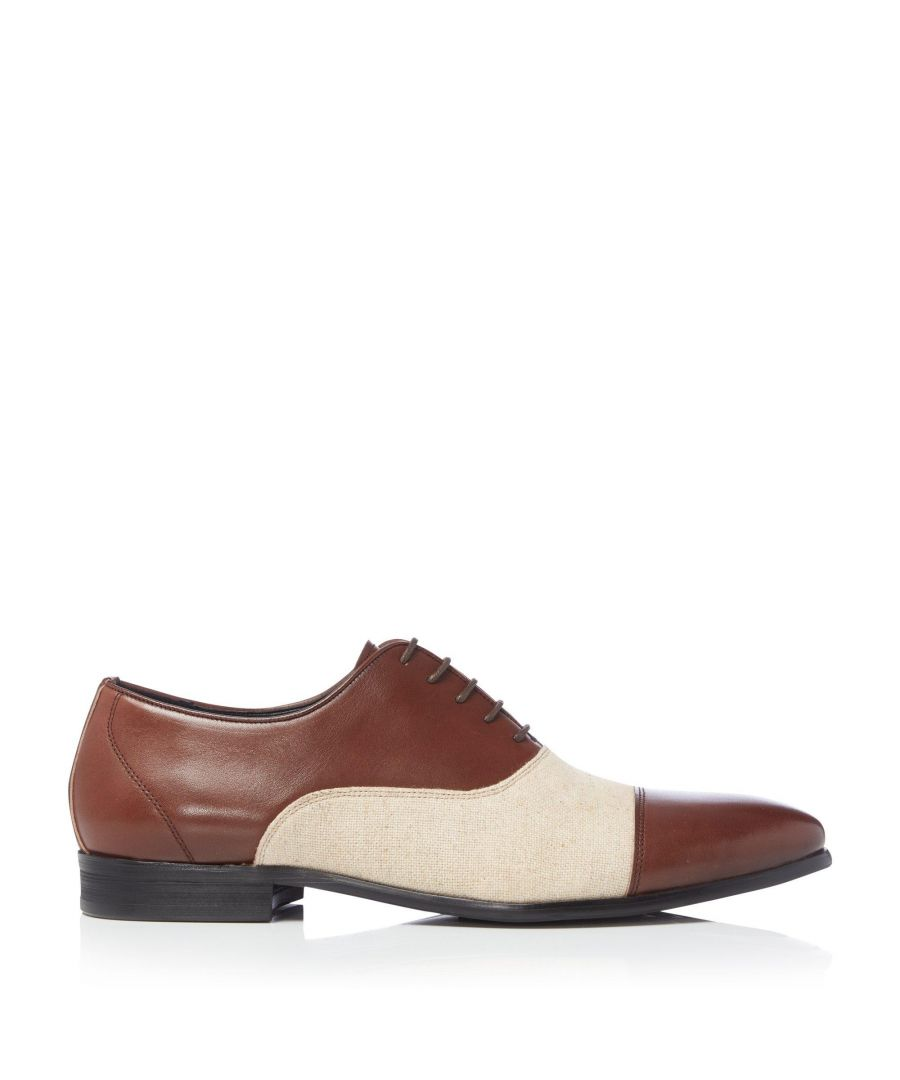 Image for Dune Mens SANDAY Linen Detail Oxford Shoes