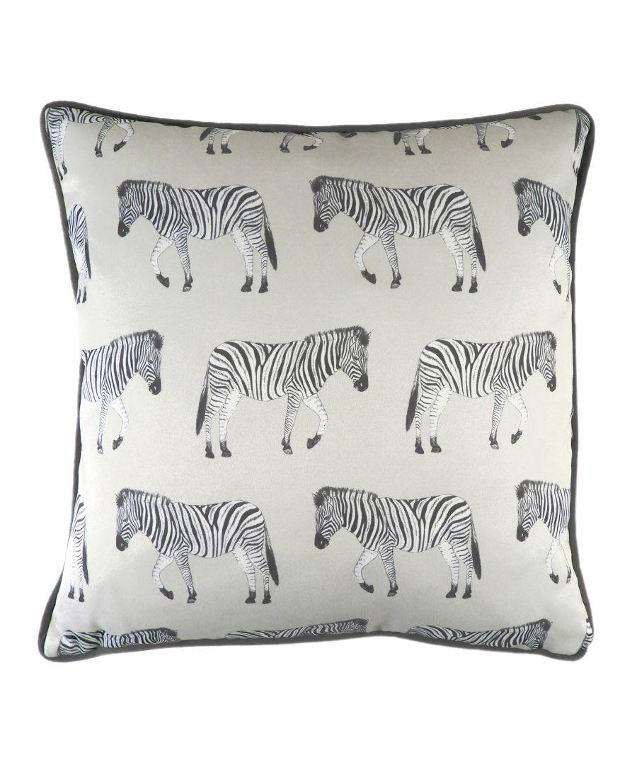 Image for Safari Zebra Silver Cushion