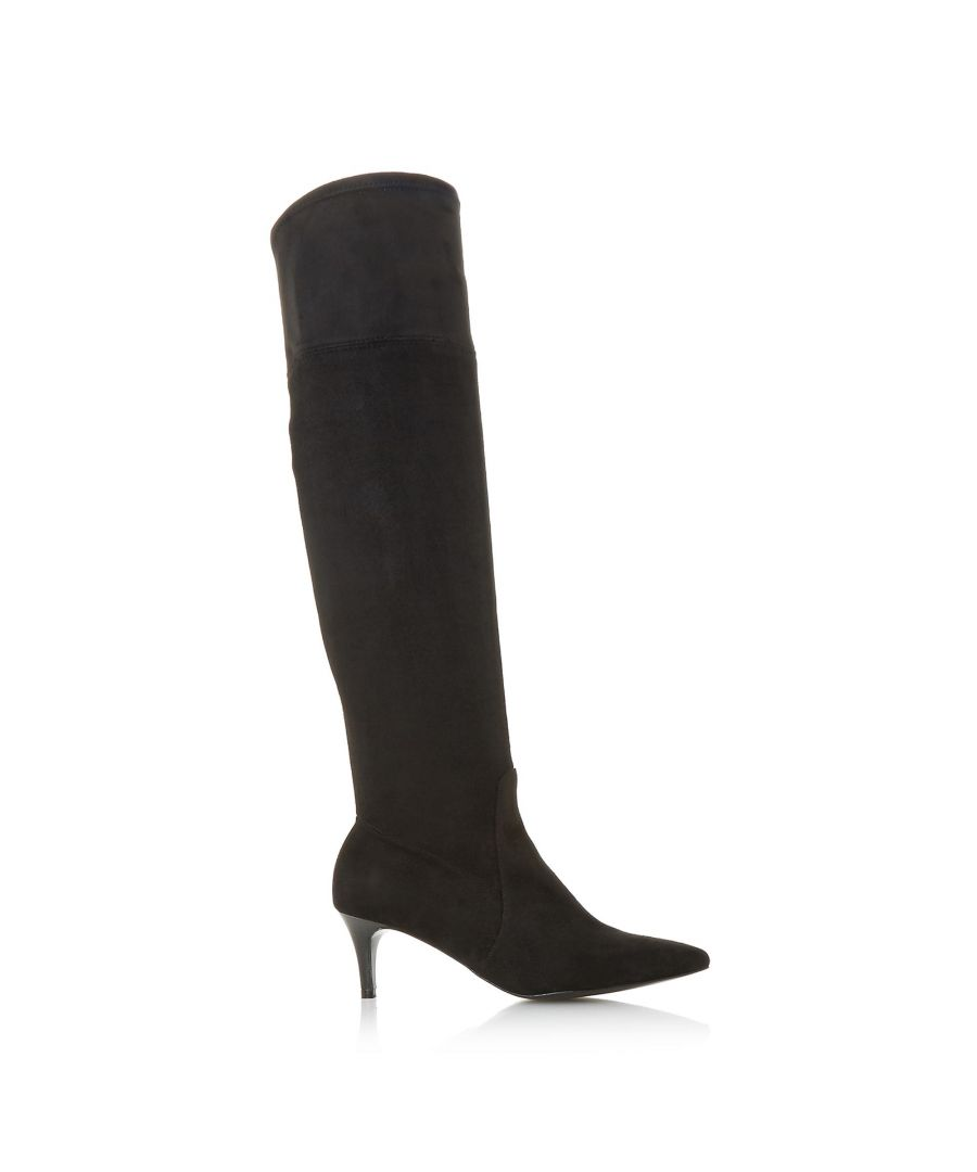 Image for Dune Ladies SCARLETTE Stretch Over The Knee Kitten Heel Boots