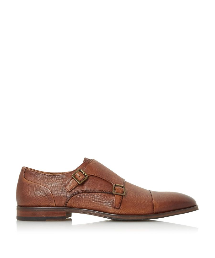 Image for Dune Mens SCOPE Saffiano Formal Monk Shoes