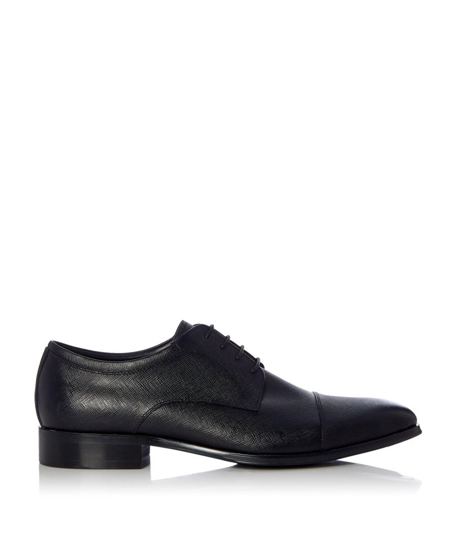 Image for Dune Mens SCRIBE Saffiano Toe Cap Detail Formal Shoes