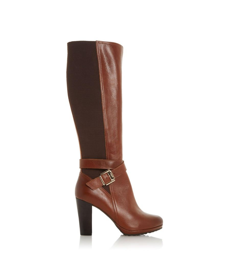 Image for Dune Ladies SEBBY Knee High Buckle Strap Boots
