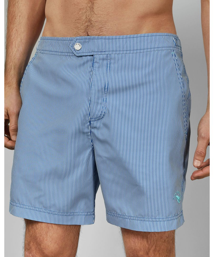 Image for Ted Baker Seel Stripe Print Swim Short, Blue
