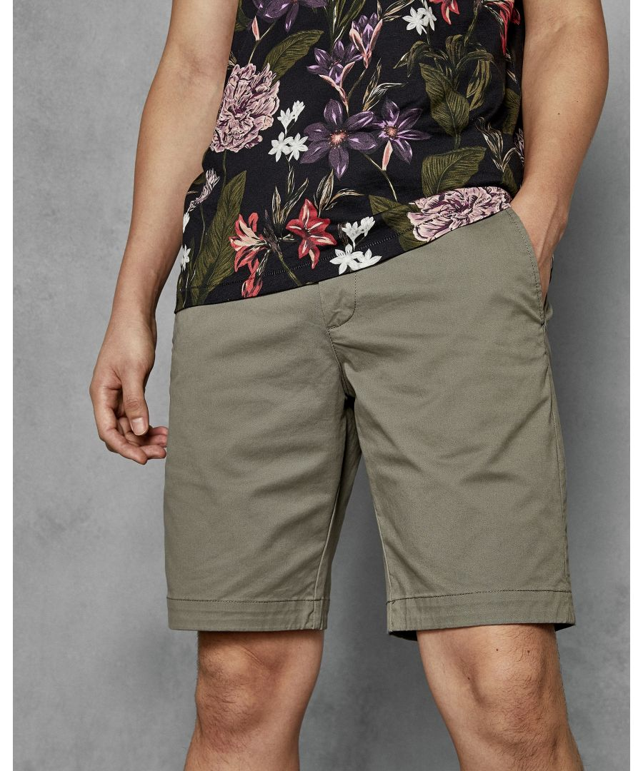 Image for Ted Baker Selshor Chino Short Silky Touch Fabric, Olive
