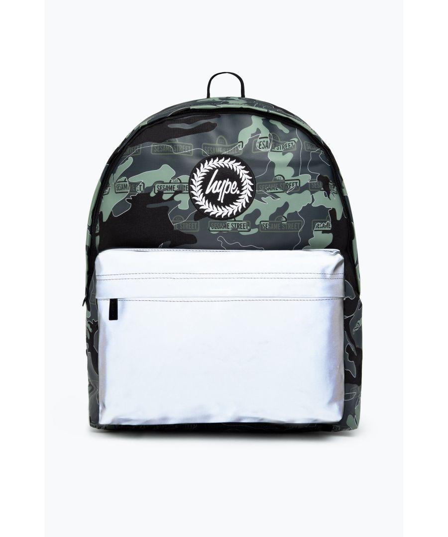 Image for Hype X Sesame Street Grey Logo Camo Backpack