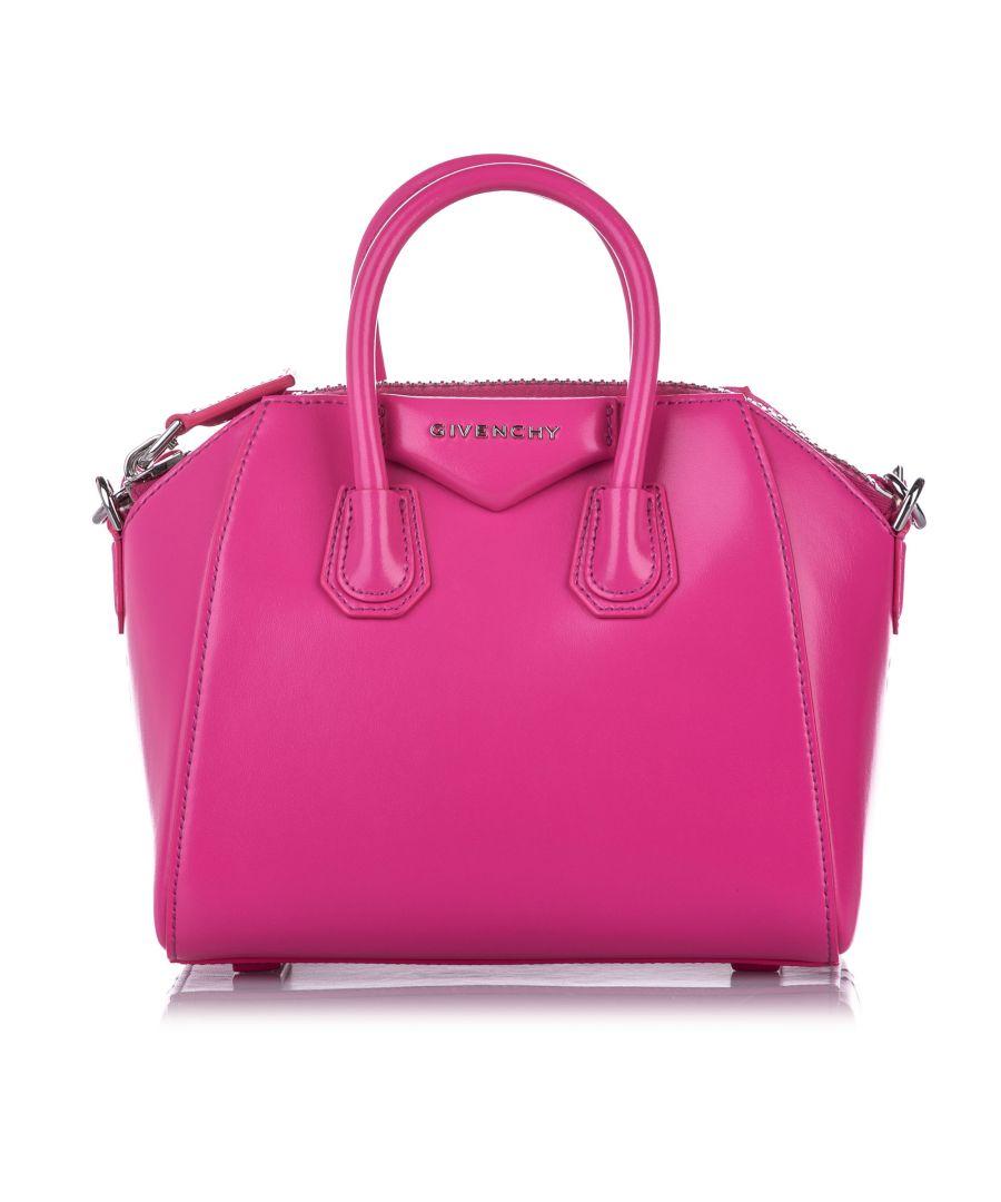 Image for Vintage Givenchy Mini Antigona Leather Satchel Pink