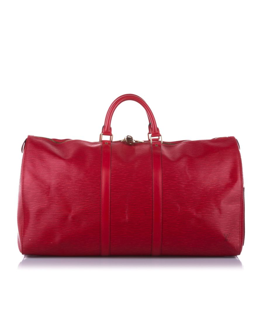 Image for Vintage Louis Vuitton Epi Keepall 55 Red