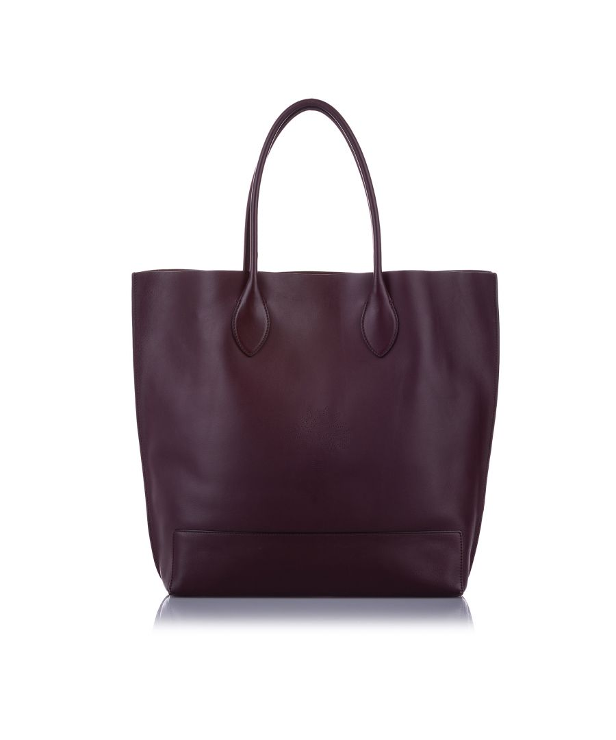 Image for Vintage Mulberry Leather Tote Bag Red