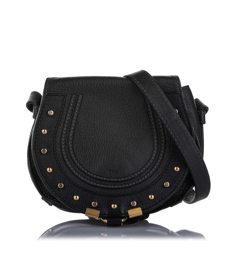 Image for Vintage Chloe Marcie Leather Crossbody Bag Black