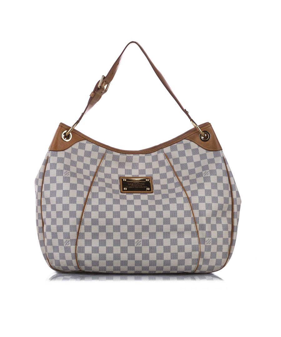 Image for Vintage Louis Vuitton Damier Azur Galliera GM White