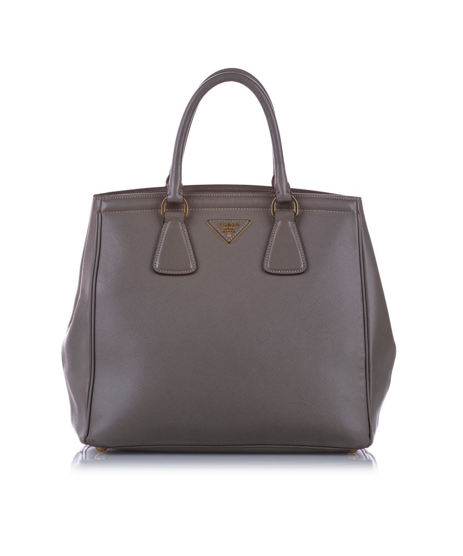 Image for Vintage Prada Saffiano Parabole Handbag Gray