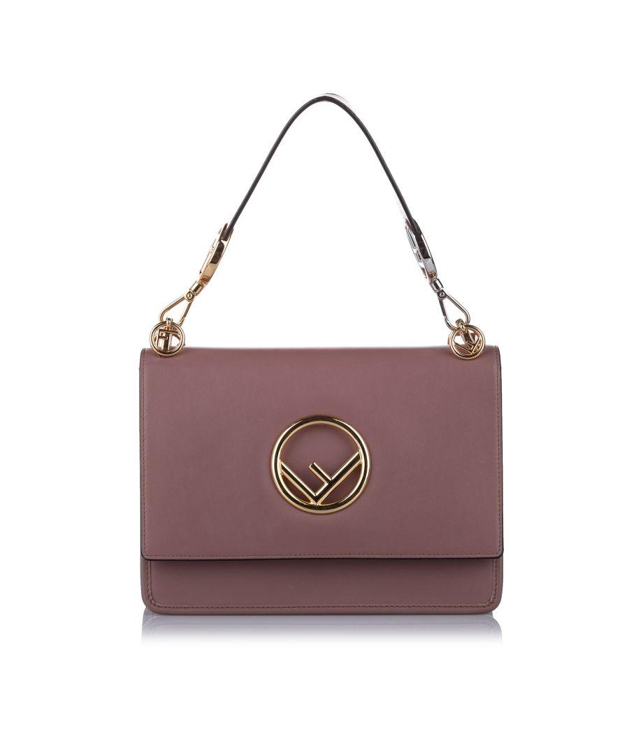 Image for Vintage Fendi Kan I F Leather Satchel Pink