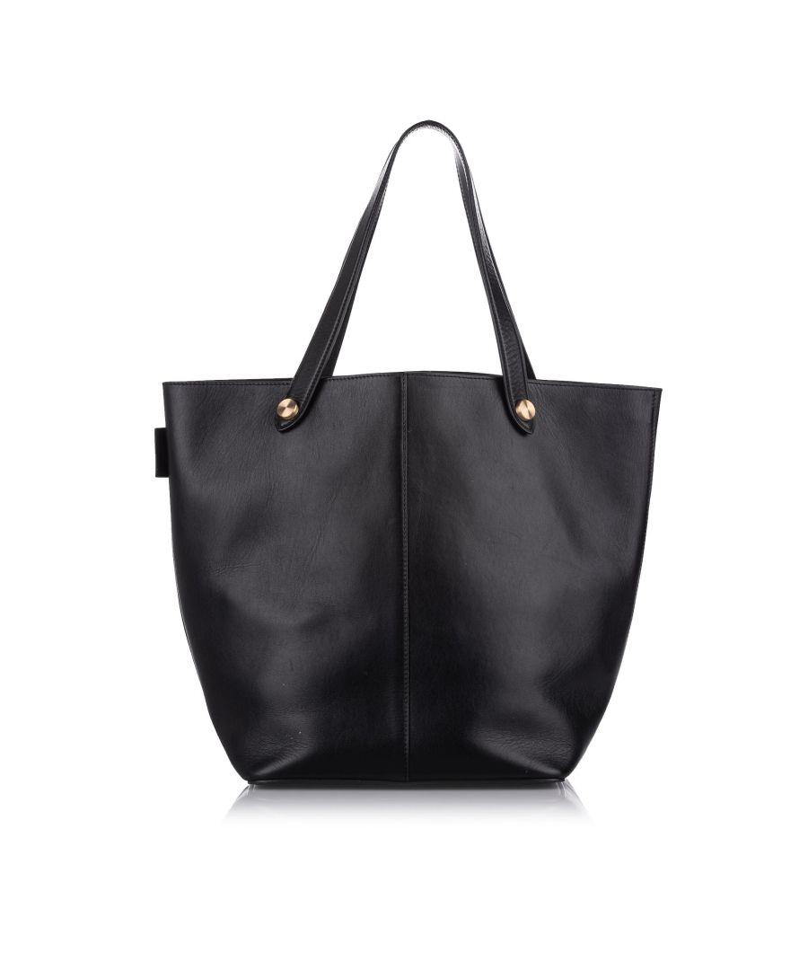 Image for Vintage Mulberry Leather Tote Bag Black