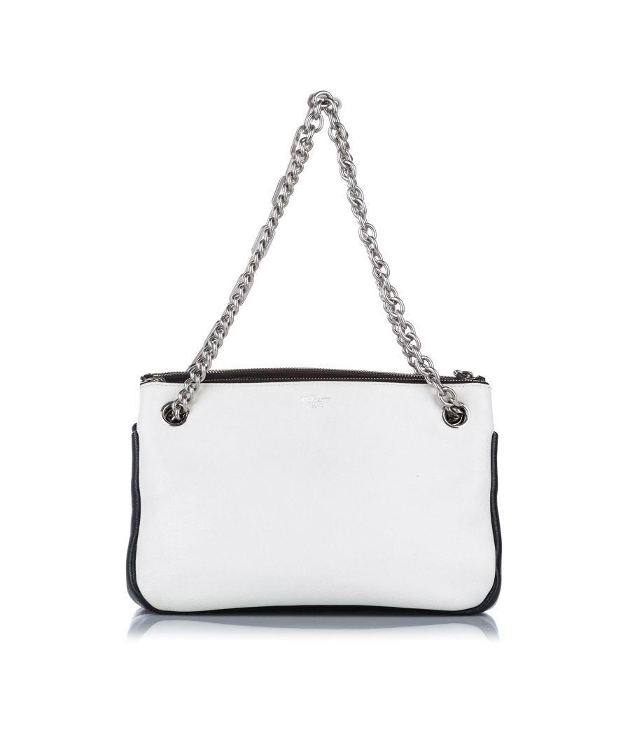 Image for Vintage Mulberry Leather Shoulder Bag White