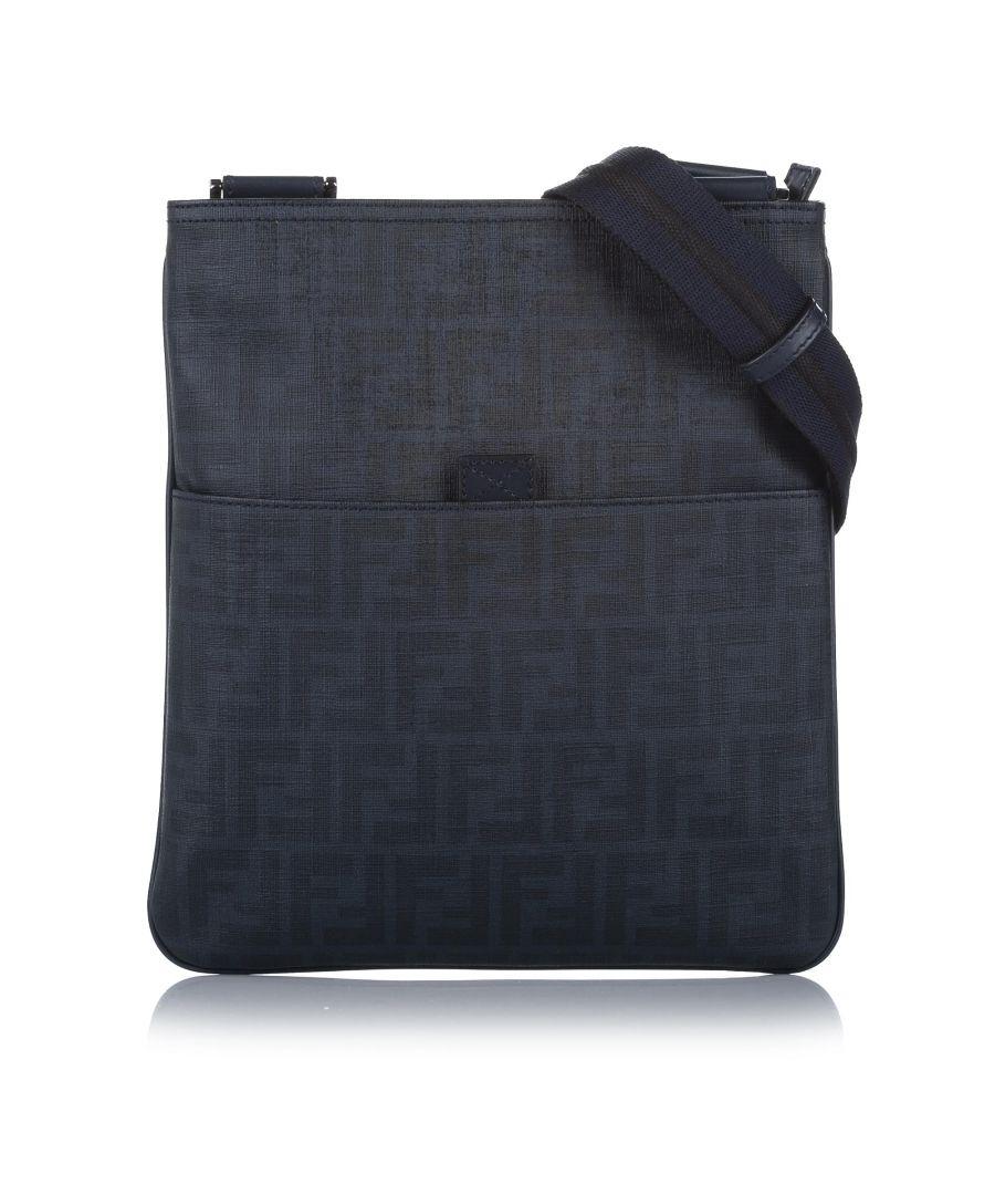 Image for Vintage Fendi Spalmati Zucca Crossbody Bag Black