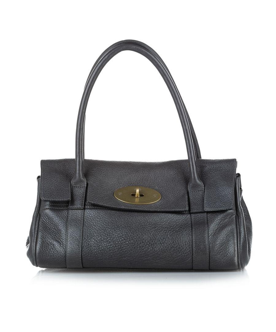 Image for Vintage Mulberry Bayswater Leather Shoulder Bag Black
