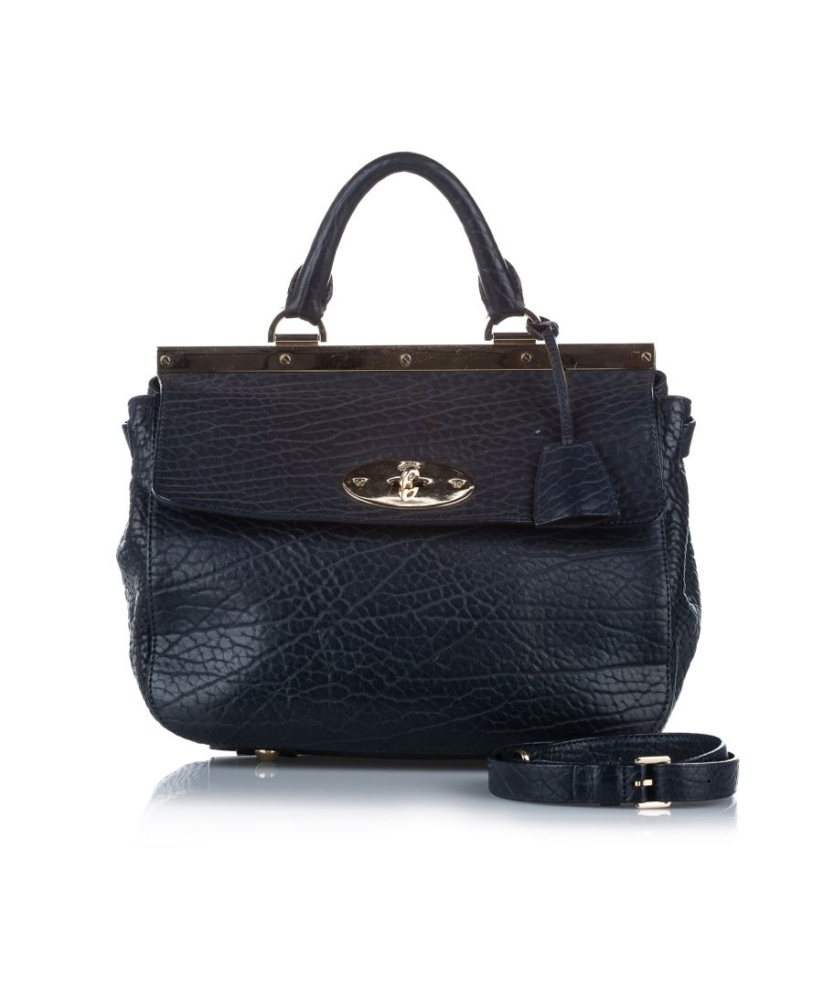 Image for Vintage Mulberry Small Suffolk Leather Satchel Black
