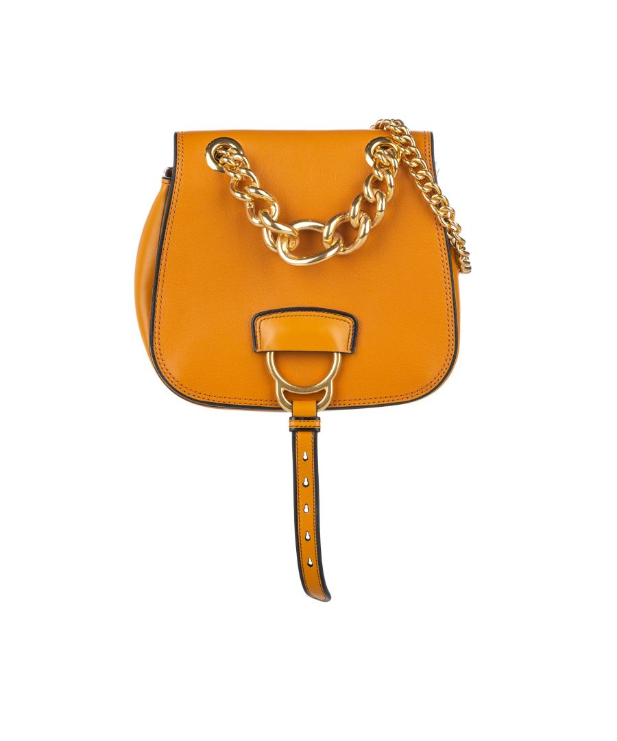 Image for Vintage Miu Miu Madras Dahlia Leather Crossbody Bag Orange