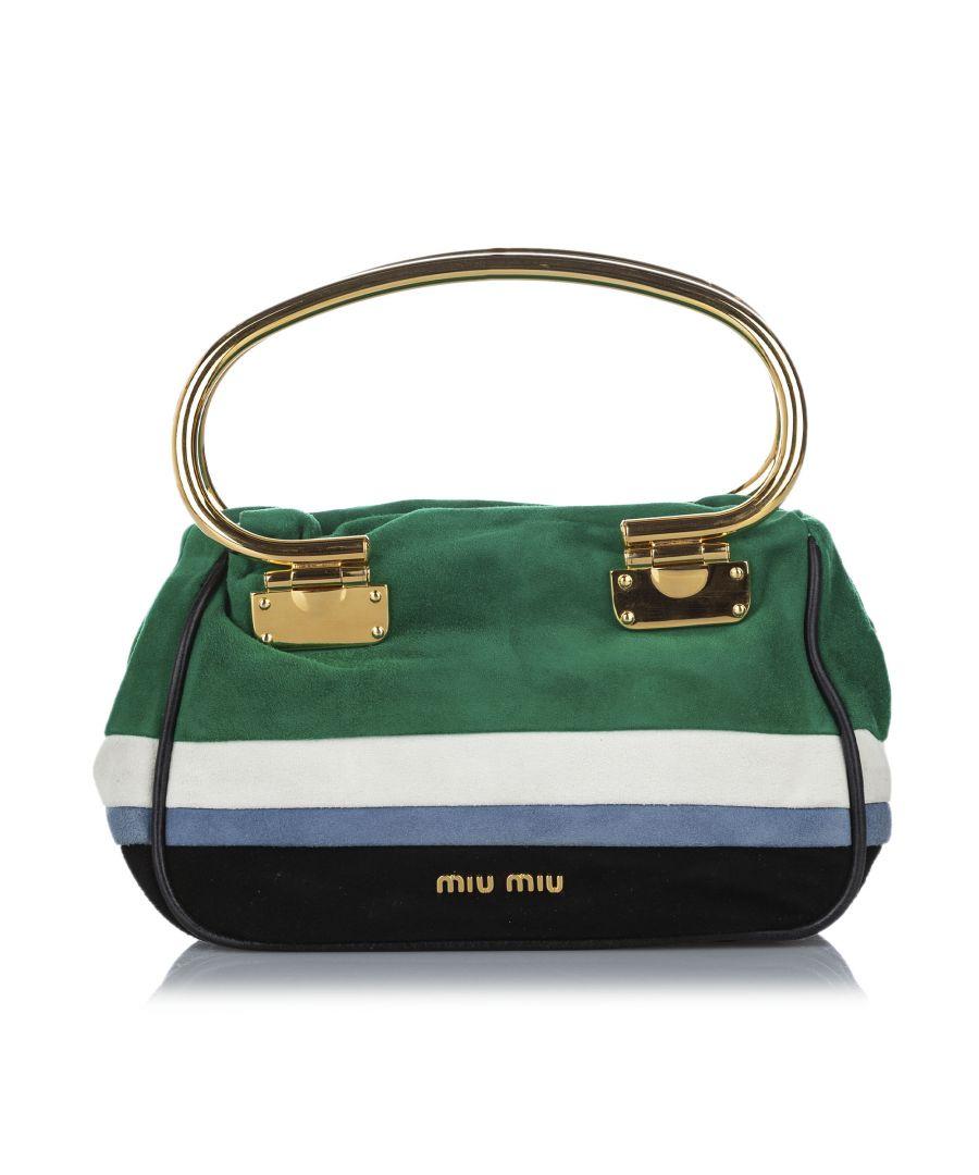 Image for Vintage Miu Miu Suede Satchel Green