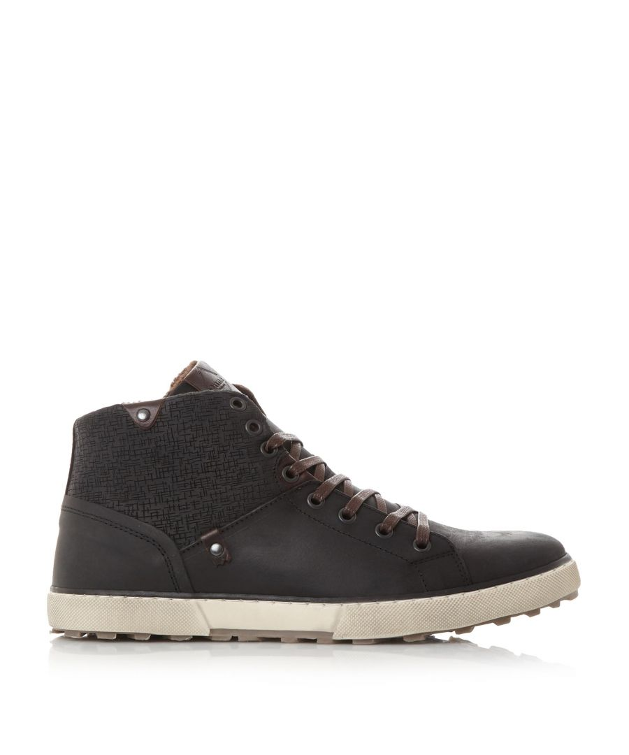 Image for Dune Mens SHERWOOD Embossed Panel Warm Lined Trainers