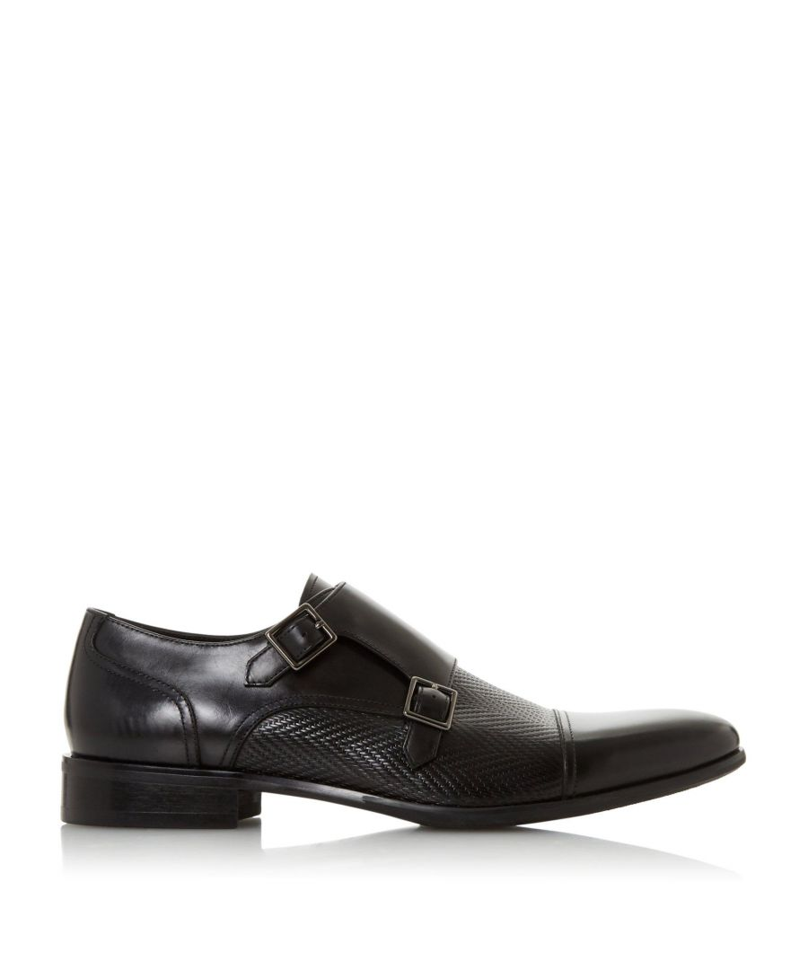 Image for Dune Mens SHORES Embossed Double Buckle Monk Shoe