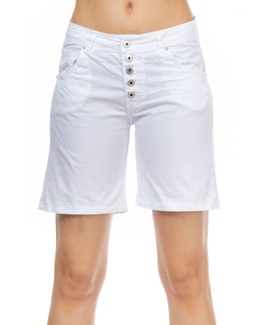 Image for Denim buttoned short with pockets
