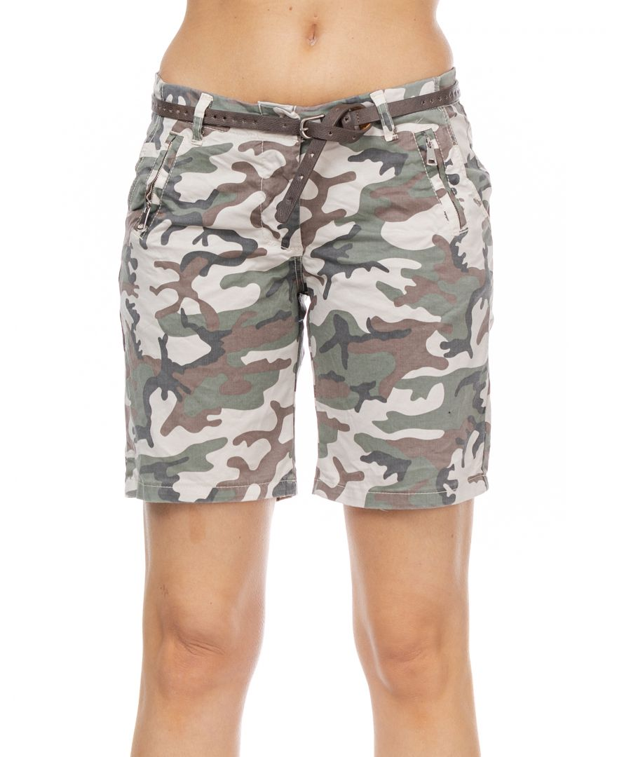 Image for Camouflage Short with belt
