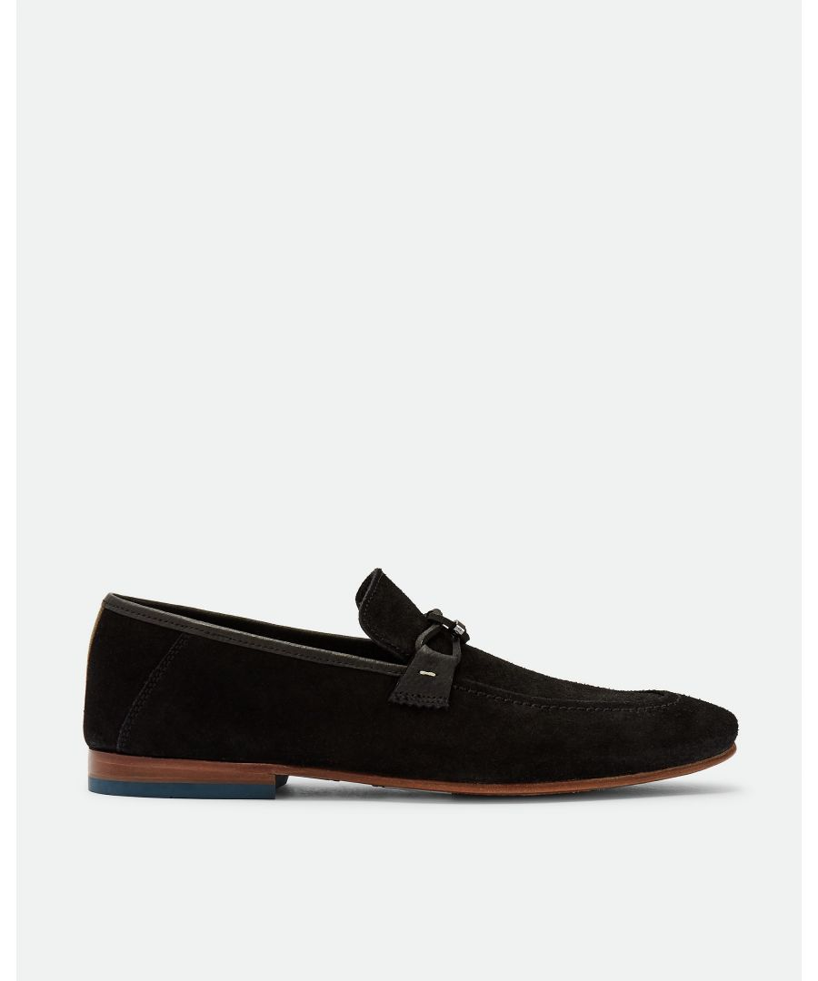 Image for Ted Baker Siblac Suede Loafers, Black