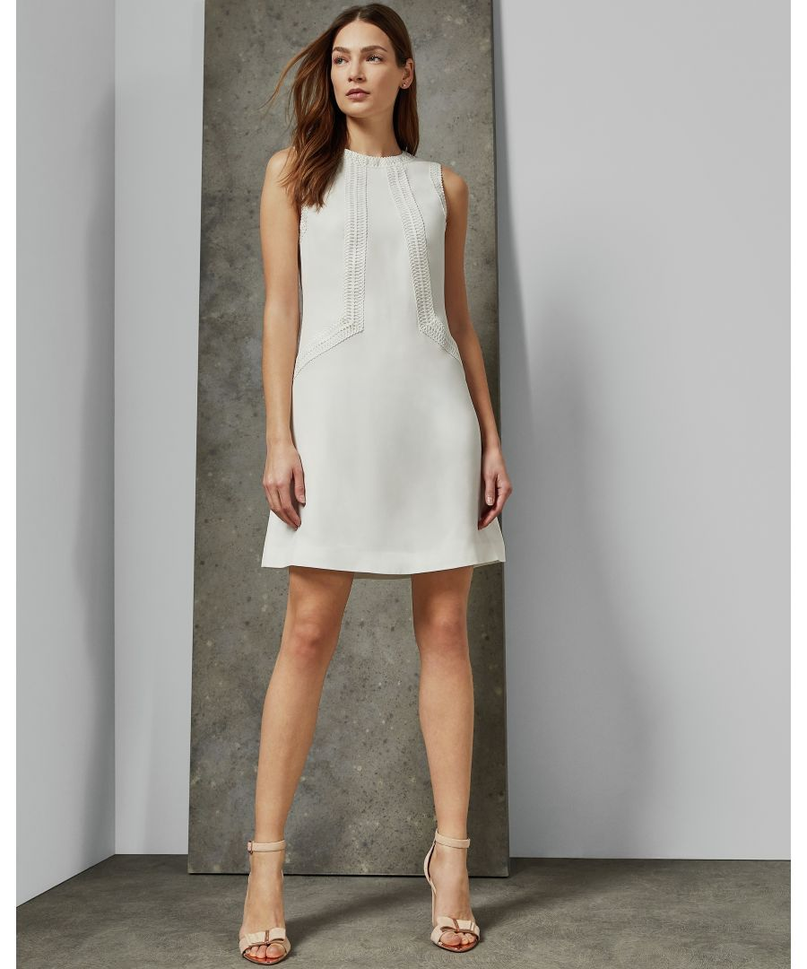 Image for Ted Baker Sieera Lace Detail Tunic Dress, Ivory