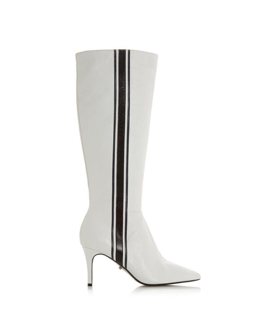 Image for Dune Ladies SIESTA Stripe Detail Knee High Boots