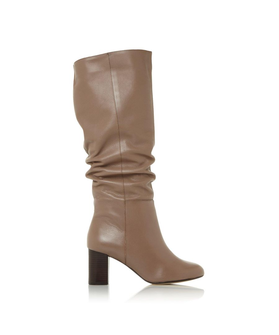 Image for Dune Ladies SILENE Ruched Block Heel Knee High Boots