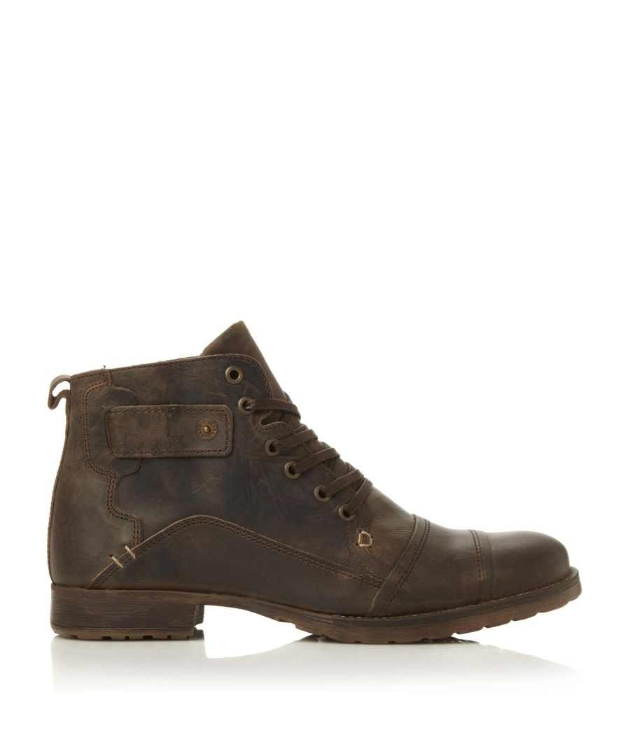 Image for Dune Mens SIMON Heavy Duty Leather Ankle Boots